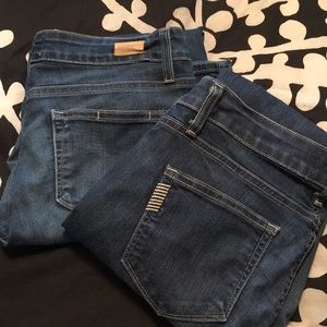 2 pairs Paige jeans